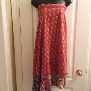 NWOT Fiori viscose skirt/dress/wrap/2 sided